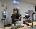 <p>On July 12th, students in the Summer Advanced Manufacturing and Engineering (SAME) program toured OptiPro Systems. Mike Bechtold, president of OptiPro Systems demonstrates equipment to SAME students.</p>