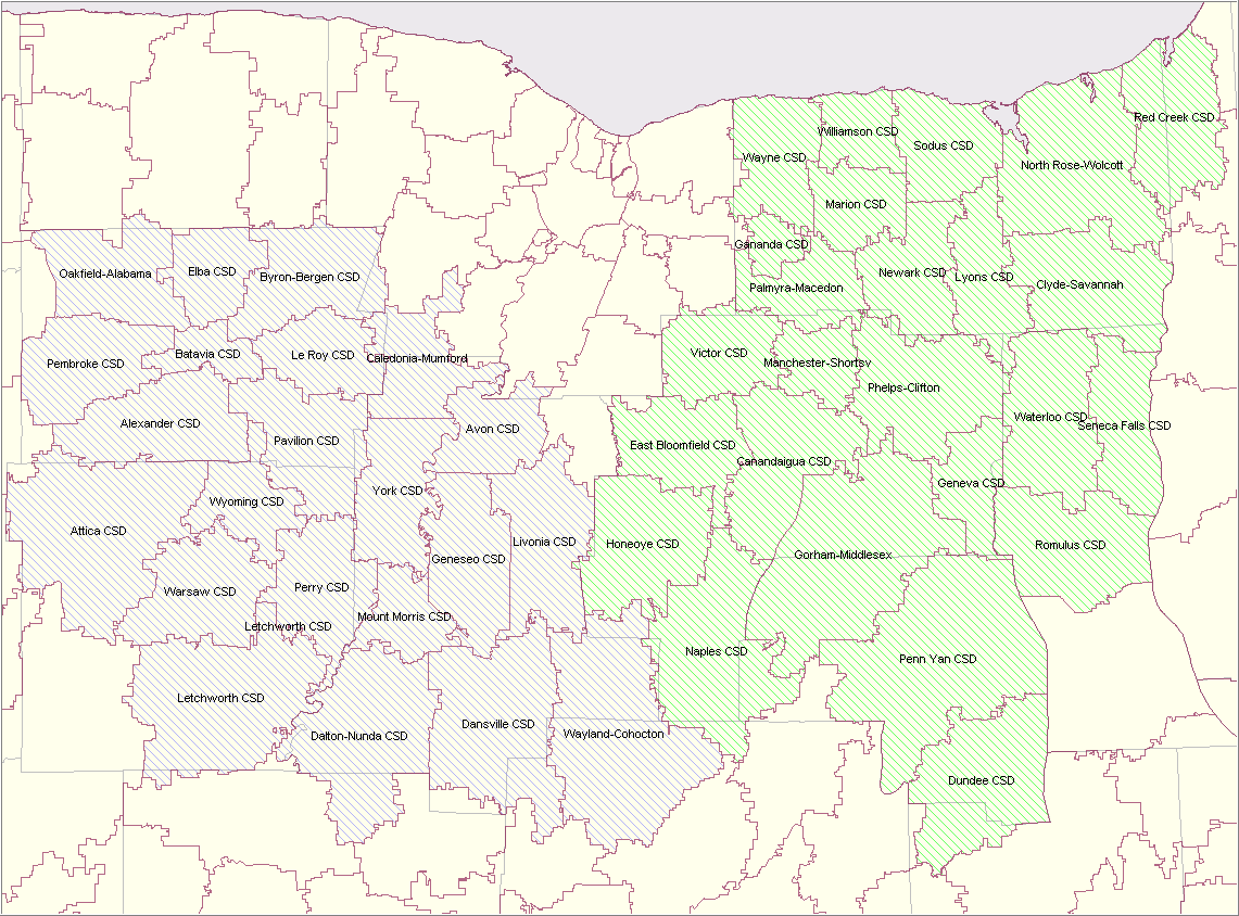 picture of a map of the EduTech school districts