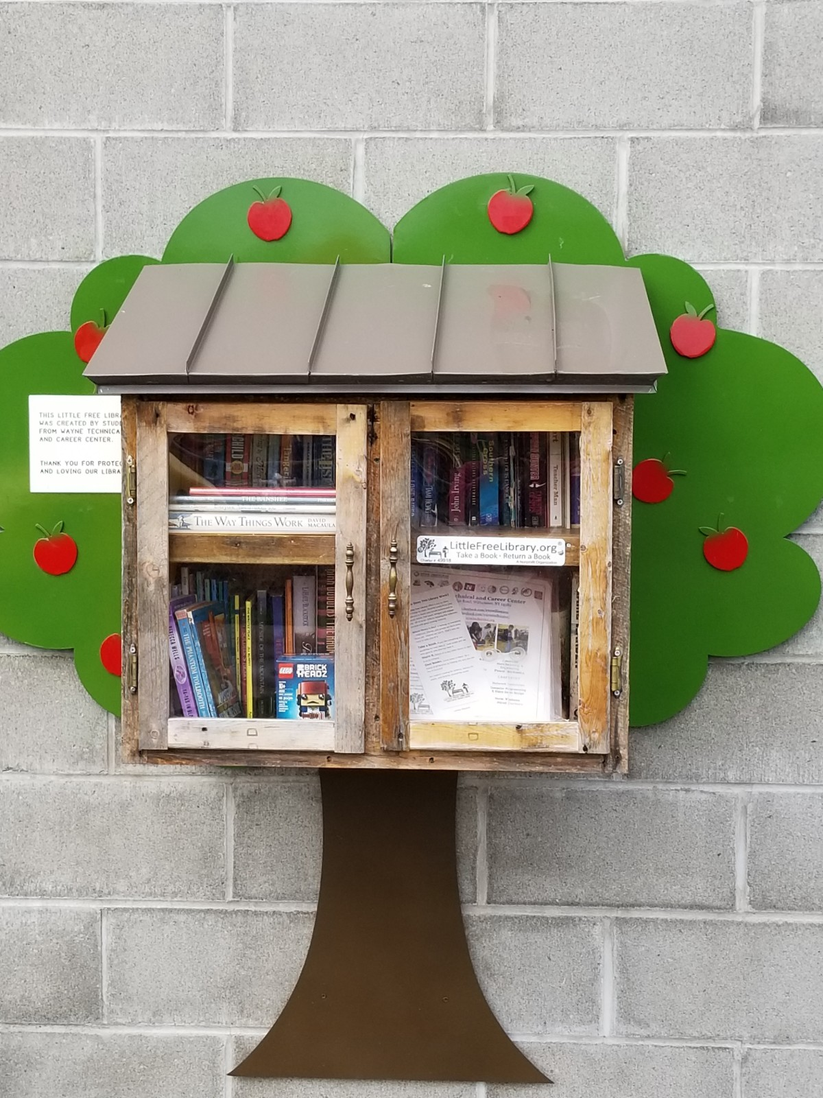 Enjoy the Little Free Library at the Williamson Town Park